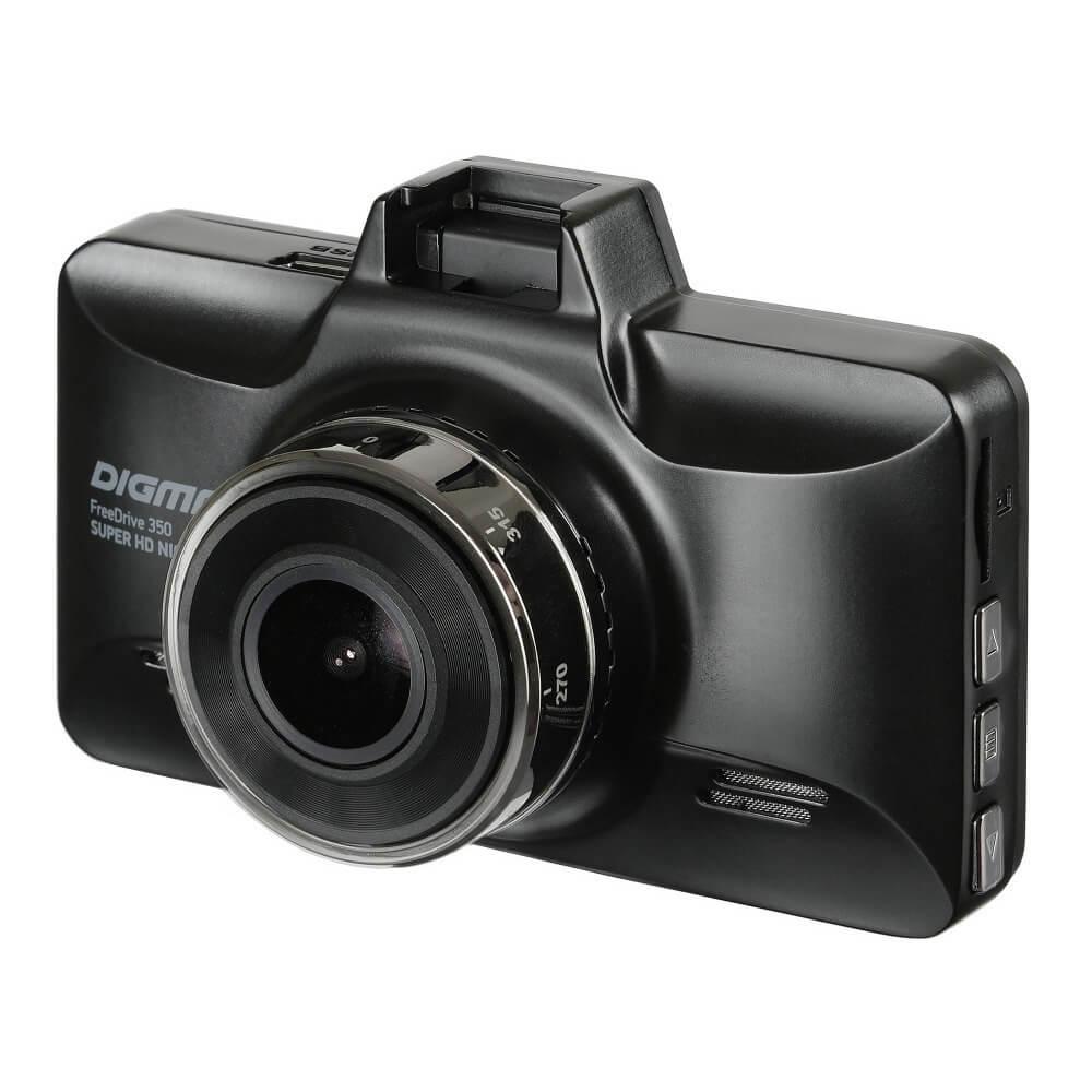Видеорегистратор Digma FreeDrive 350 Super HD Night Black черного цвета
