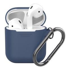 Силиконовый чехол Deppa для Apple AirPods, синий