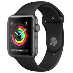 Умные часы Apple Watch Series 3 42 мм серый космос, спортивный ремешок
