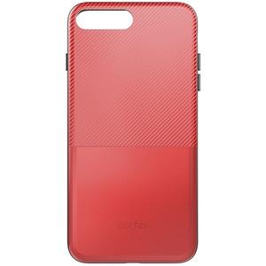 Dotfes G02 Carbon Fiber Card Case для iPhone 7/8 red