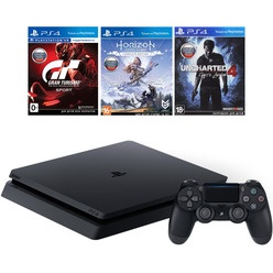 Игровая приставка Sony PlayStation 4 500 Gb (CUH-2108A) + GT/HZD/UC4