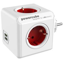 Переходник Allocacoc PowerCube Original USB красный (1202RD)