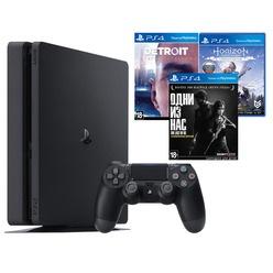 Игровая приставка Sony PlayStation 4 1000 Gb + Detroit, Одни из нас, Horizon: Zero Dawn (CUH-2208B)
