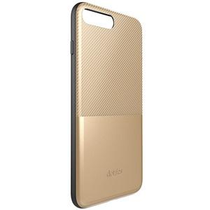 Dotfes G02 Carbon Fiber Card Case для iPhone 6/6s gold