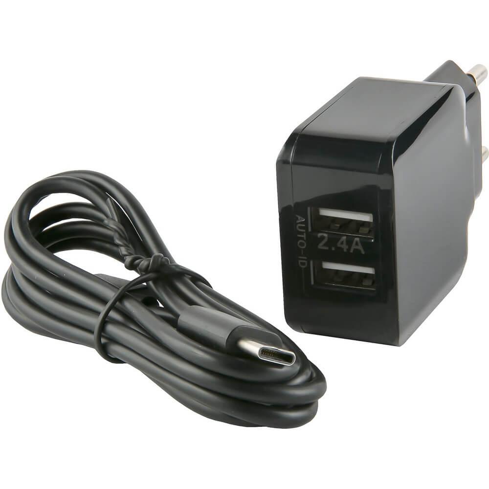 Зарядное устройство Red Line NC-2.4A (2 USB), черный сзу red line 2 usb модель nc 2 4a 2 4a кабель type c черный