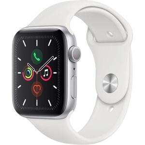 Apple Watch Series 5 44 мм серебристый, спортивный ремешок
