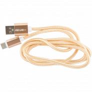 Red Line USB-USB Type-C 2.0, 1 м, золотой