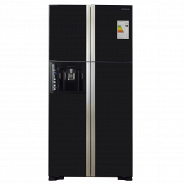 Черный Холодильник Hitachi R-W722PU1GBK