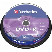 Verbatim DVD+R 16x Cake 10 43498 (  V193BSM)