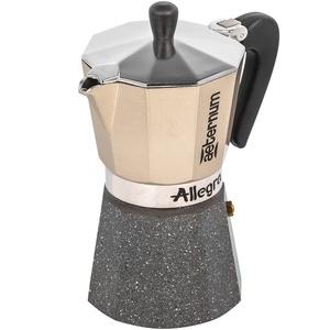 Гейзерная кофеварка Bialetti Allegra Petra Platino R