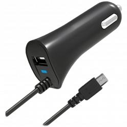 Автомобильное зарядное устройство Partner microUSB 2.1А черный