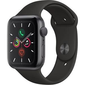 Умные часы Apple Watch Series 5 44 мм серый космос, спортивный ремешок