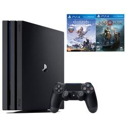 Игровая приставка Sony PlayStation 4 PRO 1 TB + Horizon: Zero Dawn, God Of War (CUH-7208B)