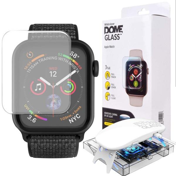 Защитное стекло Whitestone Dome для Apple Watch S4/S5 44 мм  - купить со скидкой