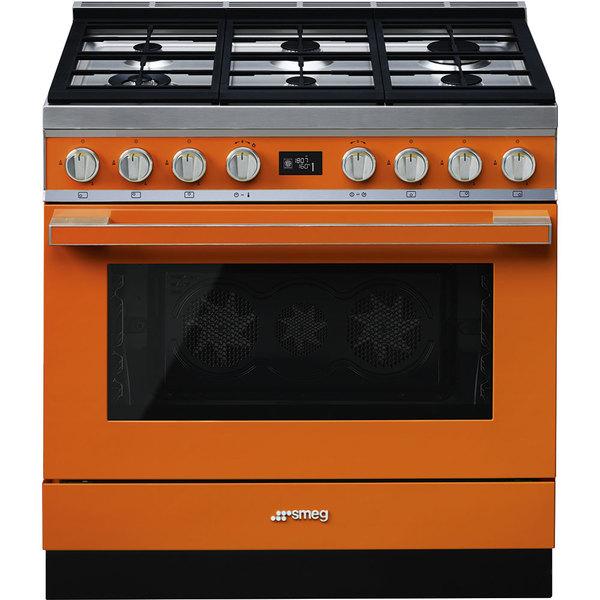 Купить Плита Smeg CPF9GMOR, оранжевый