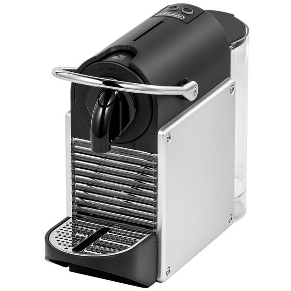Капсульная кофемашина Delonghi EN124.S Pixie серебристого цвета