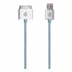 Аксессуар Apple uBear DC02LB01-I4 30pin-USB Data Sync, голубой