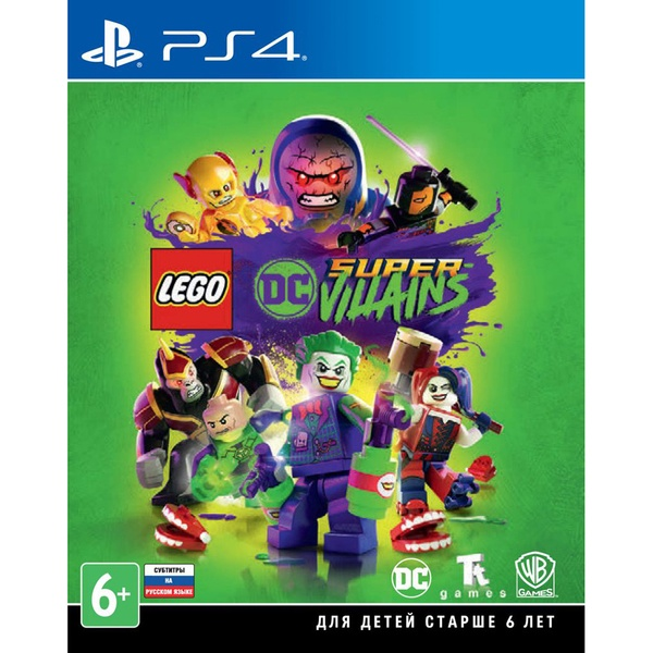LEGO DC Super-Villains PS4, русские субтитры Sony