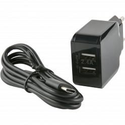 Зарядное устройство Red Line NC-2.4A (2 USB), черный