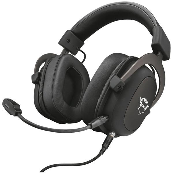 Компьютерная гарнитура Trust GXT414 Zamak Premium черного цвета