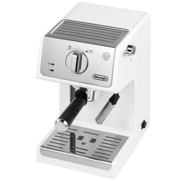 Кофеварка Delonghi ECP33.21.W серебристого цвета