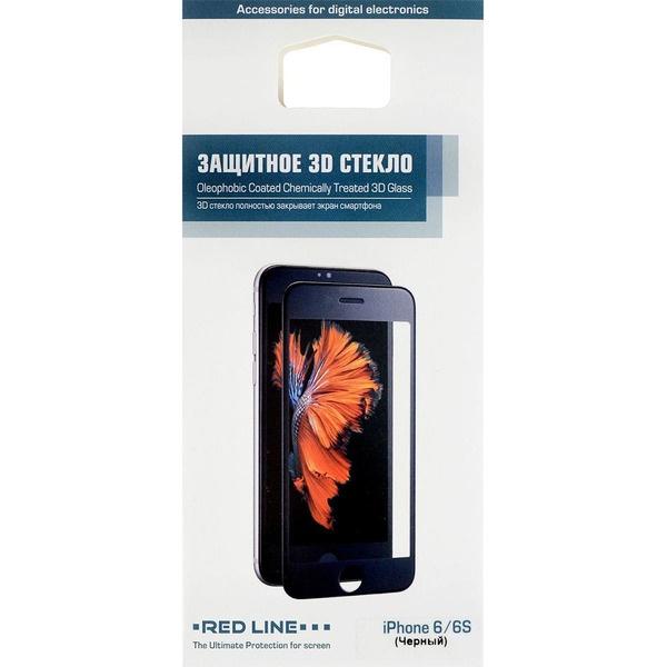 Защитное стекло Red Line Treated 3D Glass для iPhone 6/6S, черное Corning Tempered Glass для Apple iPhone 6/6S фото