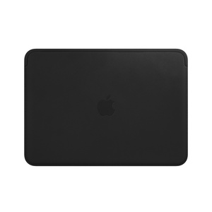 Apple Leather Sleeve Saddle Black