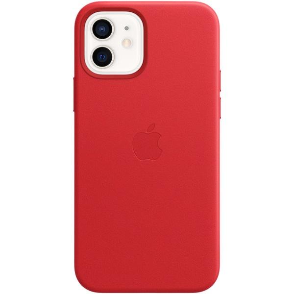 Чехол для смартфона Apple iPhone 12 и 12 Pro кожаный MagSafe, красный