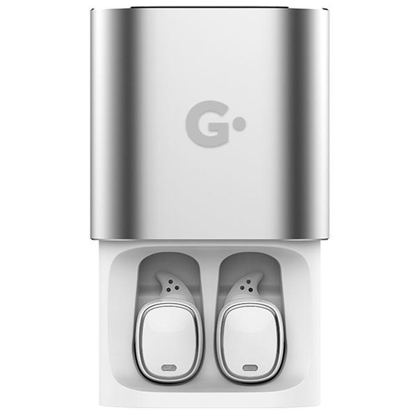 Наушники GEOZON G-SOUND CUBE, серебристый белого цвета
