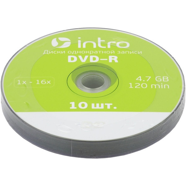 Диск INTRO DVD R 4.7Gb, 16x Shrink