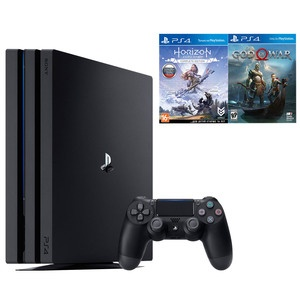 Sony PlayStation 4 PRO 1 TB + Horizon: Zero Dawn, God Of War (CUH-7208B)
