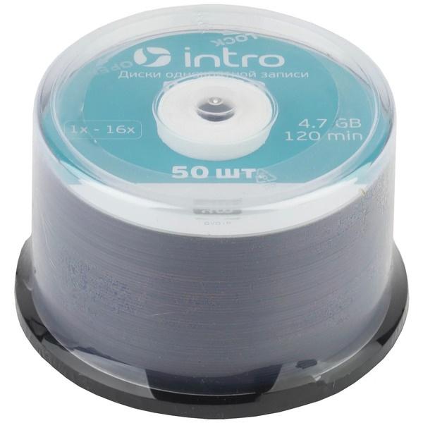Диск INTRO DVD R 4.7Gb, 16x Cakebox