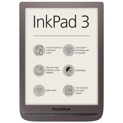 Электронная книга e-ink PocketBook 740, коричневый