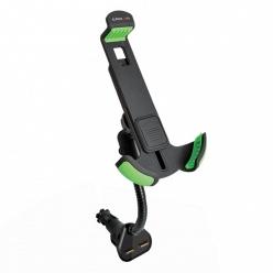 Держатель автомобильный с 2-мя USB Crown CMDC-IP5-032