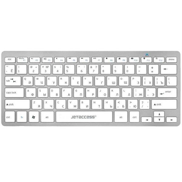 Клавиатура Jet.A SlimLine K8 BT серебристая