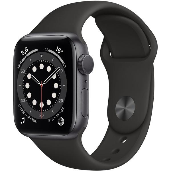 Смарт-часы Apple Watch Series 6 40 мм серый космос, спортивный ремешок  - купить со скидкой