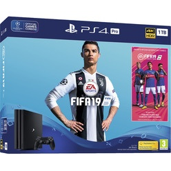 Игровая приставка Sony PlayStation 4 PRO 1000 Gb (CUH-7108B) + FIFA19