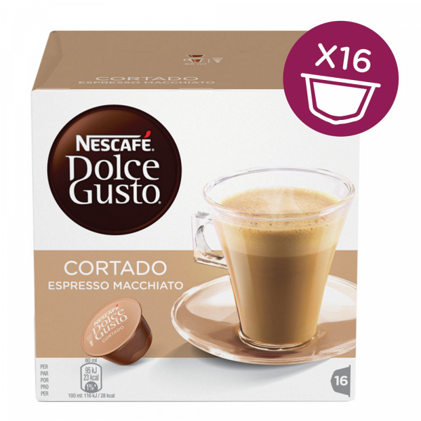 Капсулы для кофемашин Nescafe Cortado Espresso Macchiato (16шт)