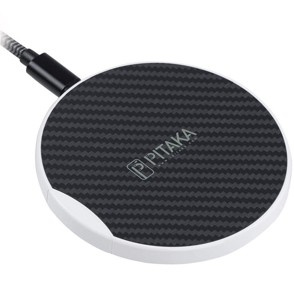 Беспроводное зарядное устройство Pitaka MagPad MP1002 чёрно-белый