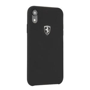 Ferrari Silicone Case Silver Logo для Apple iPhone XR Black