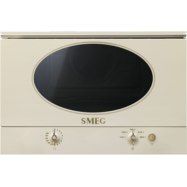 Встраиваемая микроволновая печь  Встраиваемая микроволновая печь Smeg MP822NPO Встраиваемая микроволновая печь MP822NPO бежевого цвета