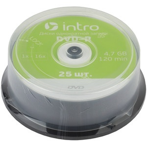 INTRO DVD-R 4.7Gb, 16x Cakebox 25