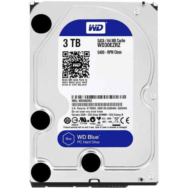 Внутренний HDD накопитель Western Digital 3TB 6GB/S 64MB BLUE WD30EZRZ фото