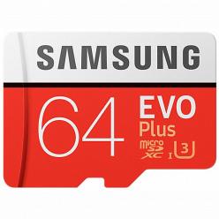 Карта памяти Samsung MicroSDXC 64GB Class 10 EVO Plus (MB-MC64G)
