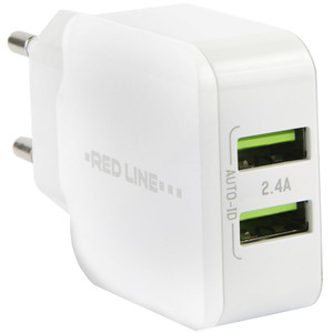 Red Line Superior  Fast Charger (2 USB /2.4 A), белый