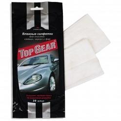 Влажные салфетки Top Gear для стекол, зеркал и фар