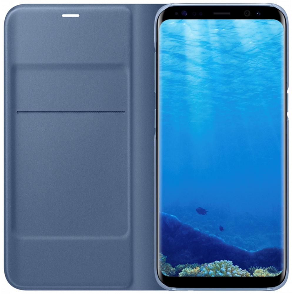 Чехол для смартфона Samsung LED View Cover Galaxy S8+, голубой (EF-NG955PLEGRU) - фото 2