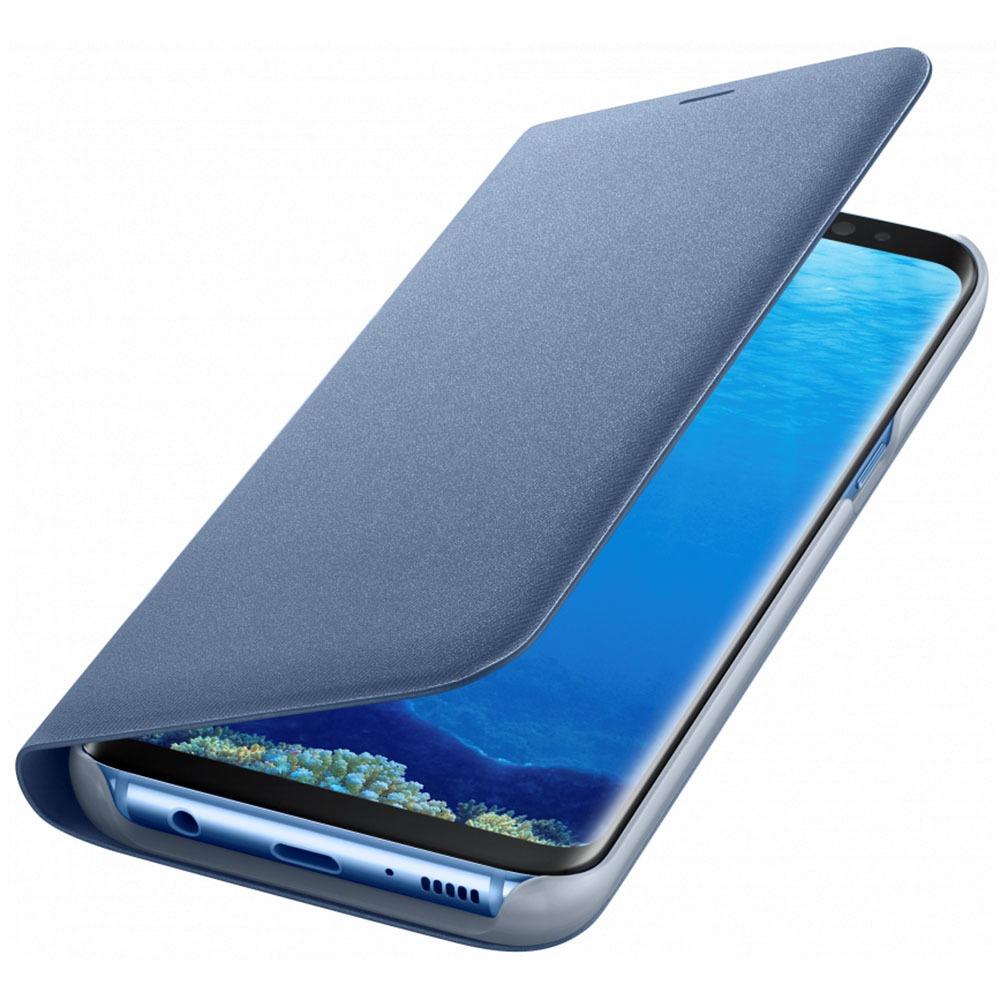 Чехол для смартфона Samsung LED View Cover Galaxy S8+, голубой (EF-NG955PLEGRU) - фото 3