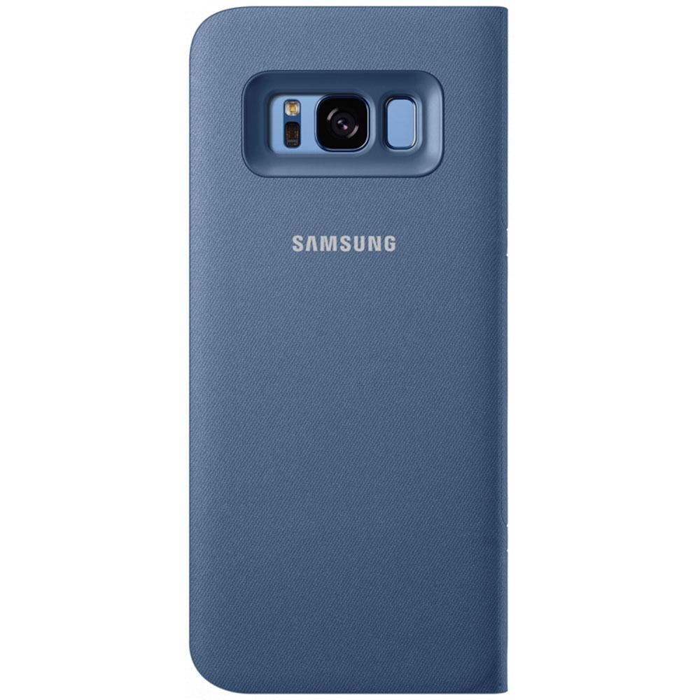 Чехол для смартфона Samsung LED View Cover Galaxy S8+, голубой (EF-NG955PLEGRU) - фото 4