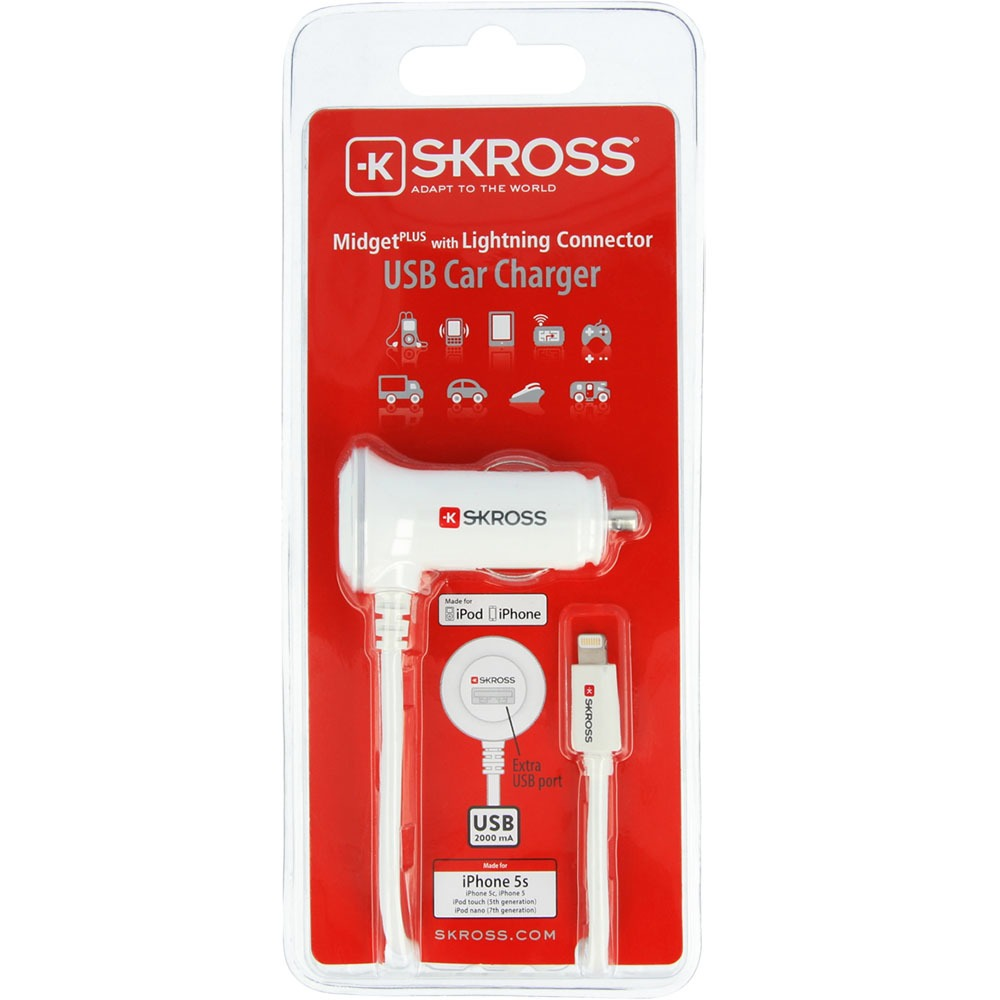 Автомобильное зарядное устройство Skross Midget Plus with Lightning Connector - фото 3